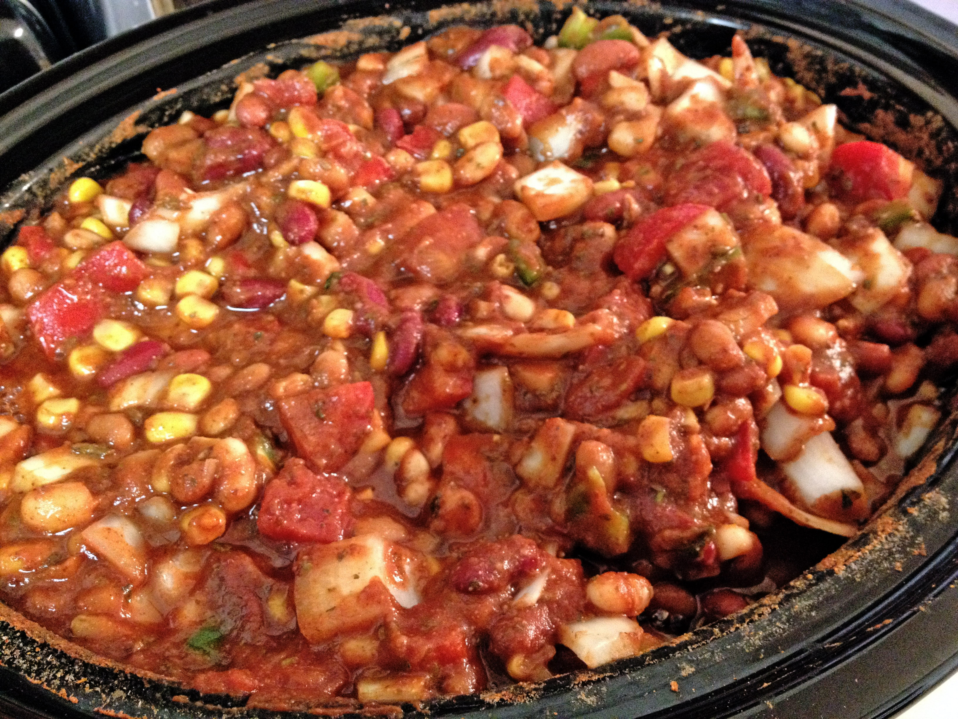 bbq chili crock pot chili fire roasted slow cooker chili slow cooker ...